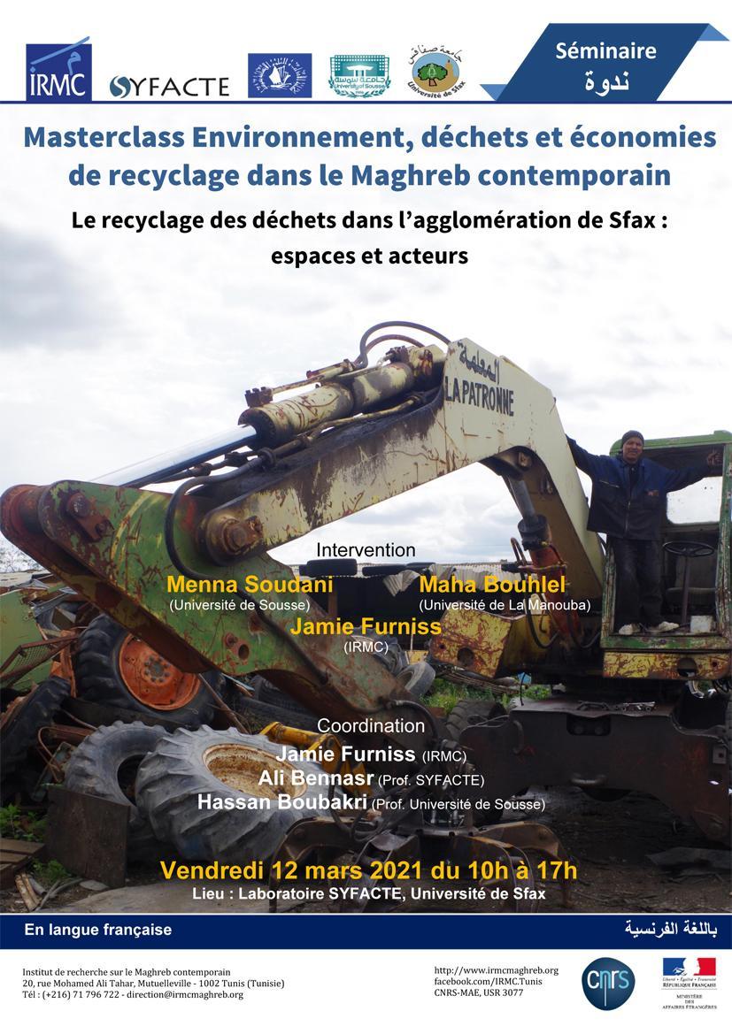 Le recyclage des déchets dans l' agglomération de Sfax : espaces et facteurs